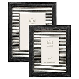 Prinz Galvanized Metal and Wood Picture Frame in Black