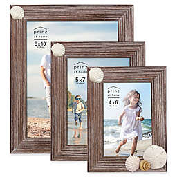 Prinz Coastal Shell Accented Wood Picture Frame