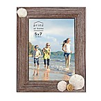 Prinz Coastal 5  x 7  Shell Accented Wood Picture Frame