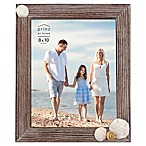 Prinz Coastal 8  x 10  Shell Accented Wood Picture Frame