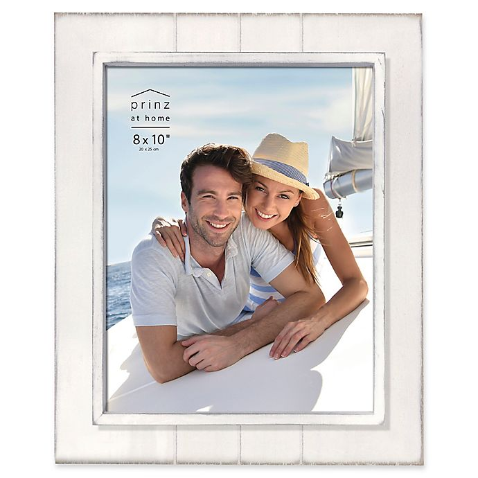 Alternate image 1 for Prinz Coastal 8-Inch x 10-Inch Grooved Wood Plank Picture Frame in White