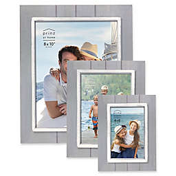 Prinz Coastal Grooved Wood Plank Picture Frame in Grey