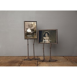 Creative Co-Op Metal Photo Frame with Duck Feet