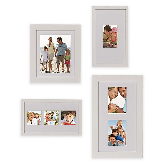 Alternate image 1 for Gallery 4-Piece Wood Picture Frame Set in White