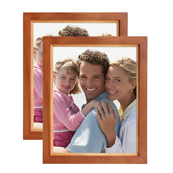 Alternate image 1 for Muse 8-Inch x 10-Inch Wood Photo Frame in Brown/Natural (Set of 2)