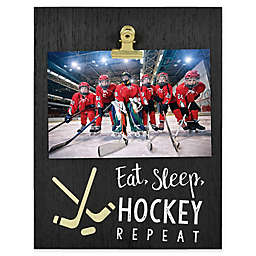 Eat Sleep Hockey 4-Inch x 6-Inch Clip Picture Frame