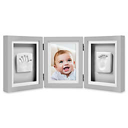 Pearhead® Babyprints 4-Inch x 6-Inch Deluxe Photo Frame in Grey