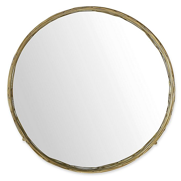 Alternate image 1 for Forest Gate 32-Inch Round Mirror with Wire Nest Frame in Gold