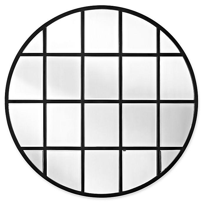 Alternate image 1 for Forest Gate 40-Inch Round Beveled Window Mirror