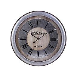 Splash Grand Hotel Galvanized Metal Wall Clock