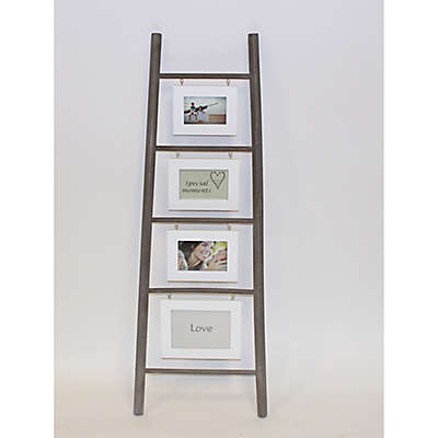 Splash Wooden Ladder 4-Photo Picture Holder