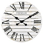 FirsTime & Co.® Shiplap 18-Inch Wall Clock in White