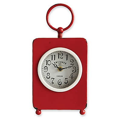 Iron Table Clock in Red