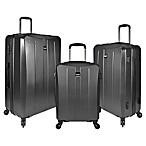 U.S. Travel Highrock 3-Piece Hardside Spinner Luggage Set in Charcoal