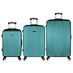 Elite Luggage Paris 3-Piece Hardside Luggage Set in Teal