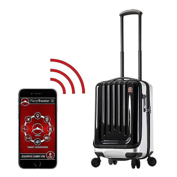 Alternate image 1 for Planet Traveler USA Space Case 20-Inch Hardside Spinner Luggage in Black