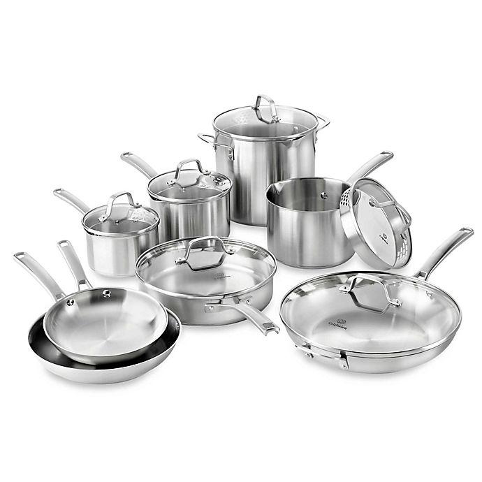 Calphalon Kitchen Outlet: Calphalon® Classic Stainless Steel 14-Piece Cookware Set