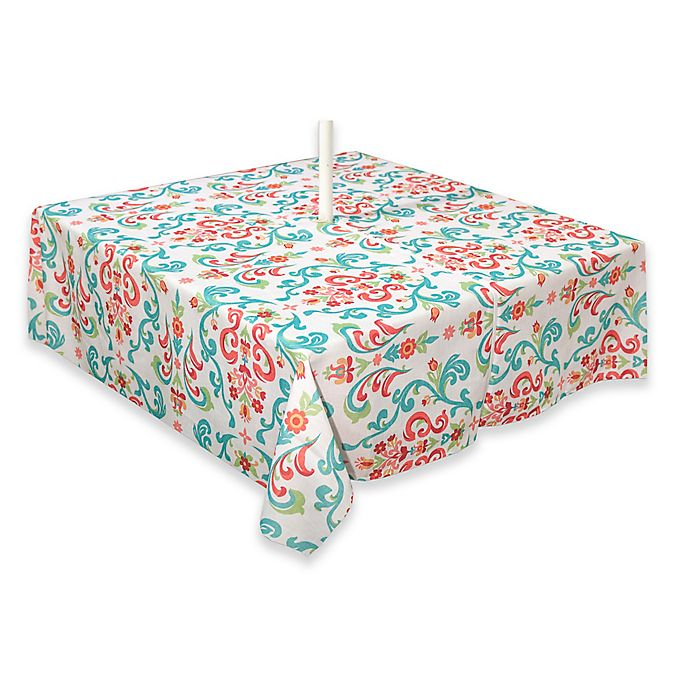 Alternate image 1 for Destination Summer Odesa 70-Inch Square Indoor/Outdoor Tablecloth with Umbrella Hole