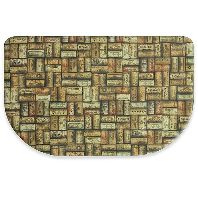 Alternate image 1 for Bacova Wine Corks 22-Inch x 34-Inch Comfort Mat in Tan