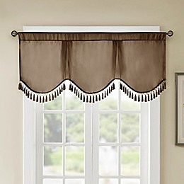 Madison Park Evelyn Scallop Embellished Window Valance