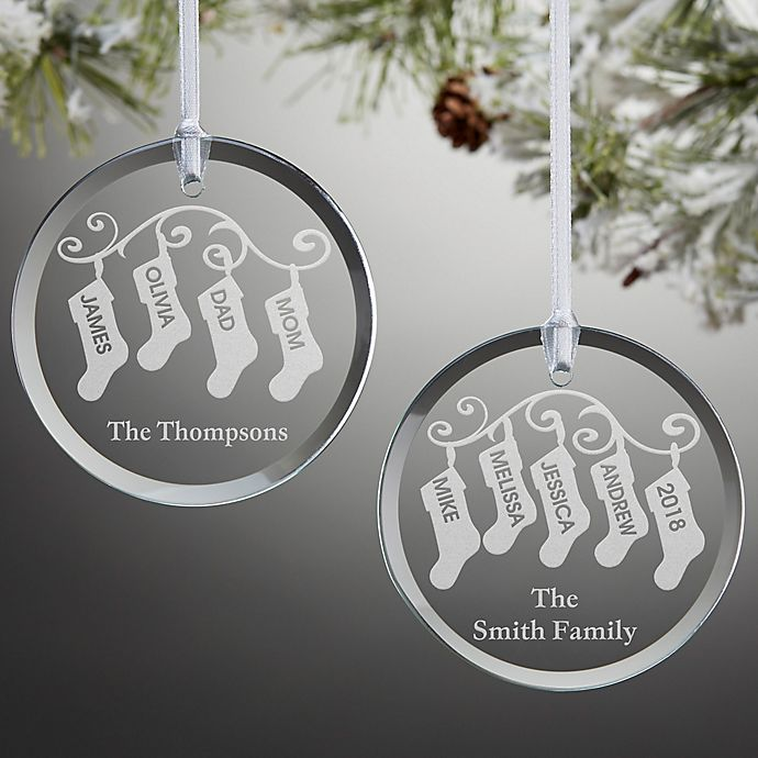 Bed Bath And Beyond Beaumont: Stocking Family Christmas Ornament