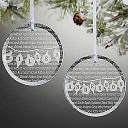 Family Circle Christmas Ornament