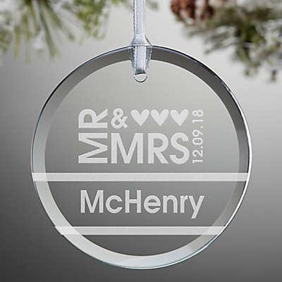 Mr. & Mrs. Christmas Ornament