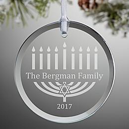 Menorah Glass Holiday Ornament