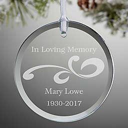 Lovely Memories Memorial Christmas Ornament