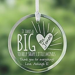 A Teacher's Heart Ornament