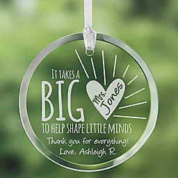 A Teacher's Heart Ornament
