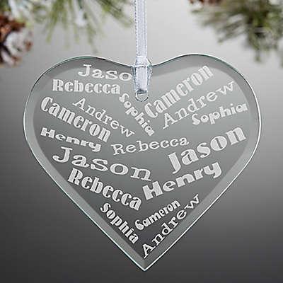 Her Heart of Love Heart Christmas Ornament