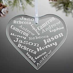 Her Heart of Love Heart Christmas Ornament