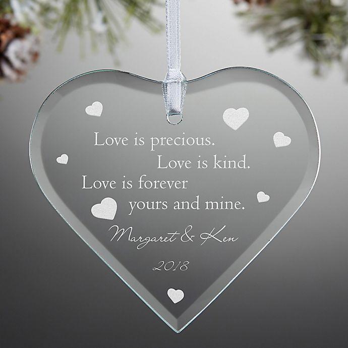 Alternate image 1 for Love is Precious Keepsake Christmas Ornament