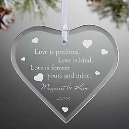Love is Precious Keepsake Christmas Ornament