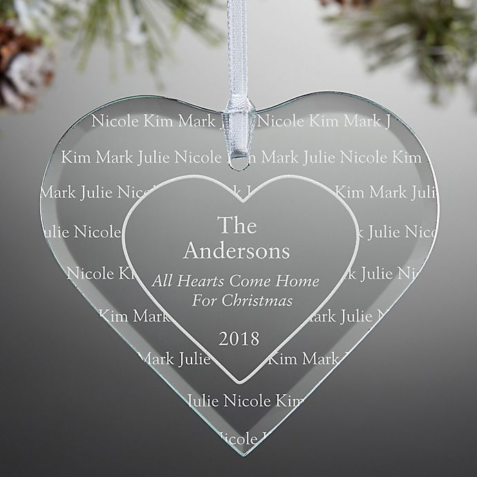 Alternate image 1 for All Hearts Come Home Engraved Christmas Ornament