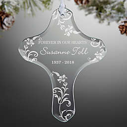 In Loving Memory Memorial Cross Christmas Ornament