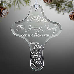 Grow In God's Love Family Cross Christmas Ornament