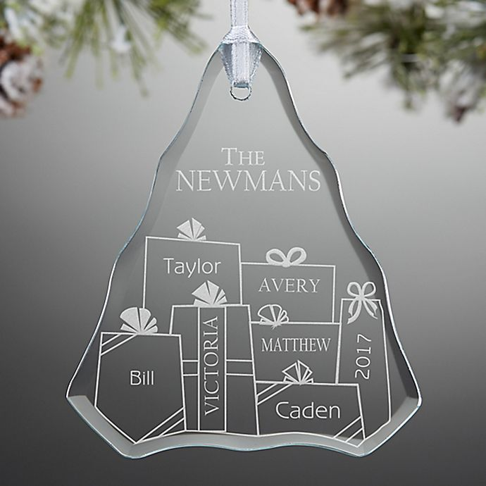 Alternate image 1 for Presents Under The Tree Engraved Christmas Ornament