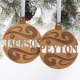 You Name It Wood Christmas Ornament