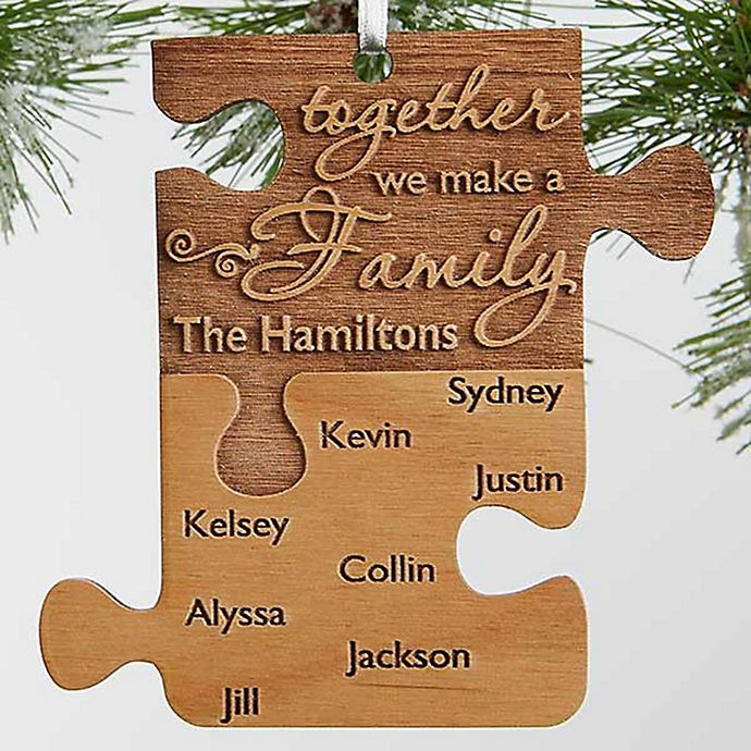 Alternate image 1 for Pieces Of Love Wood Family Christmas Ornament