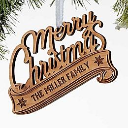 Merry Christmas Wood Christmas Ornament