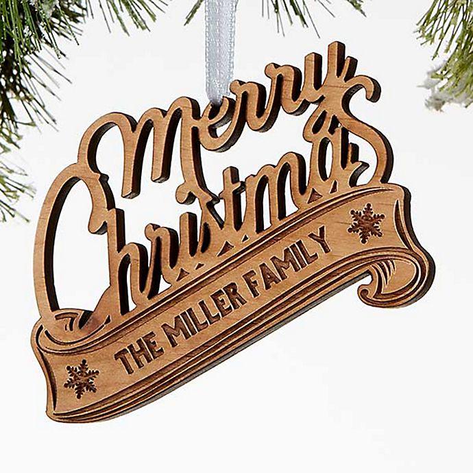 Alternate image 1 for Merry Christmas Wood Christmas Ornament