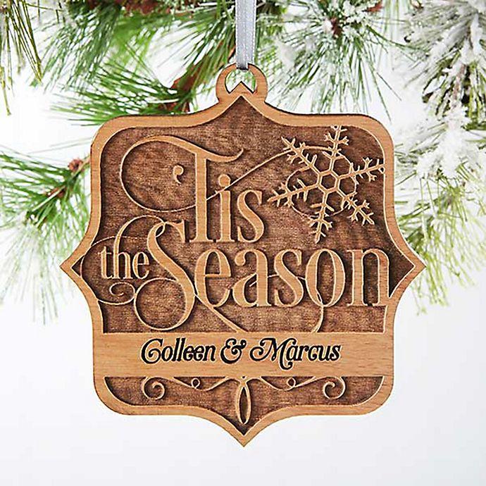 Alternate image 1 for 'Tis The Season Wood Christmas Ornament