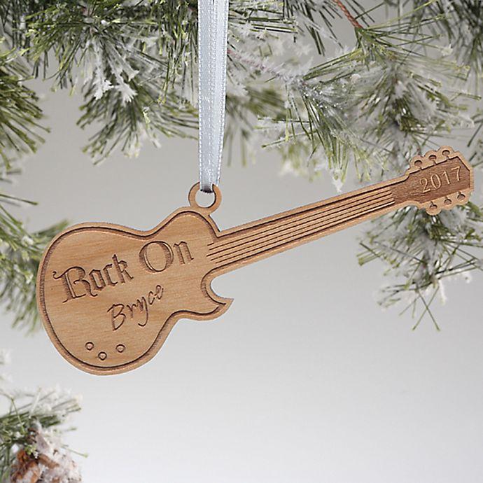 Alternate image 1 for Rock On Guitar Christmas Ornament