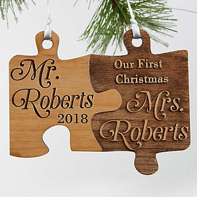 Mr. & Mrs. Wedding Christmas Ornament