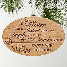 Special Sister Christmas Ornament