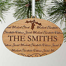Family Is Forever Engraved Christmas Ornament