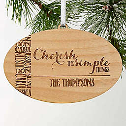 Cherish The Simple Things Christmas Ornament