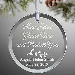 May Jesus Guide You Christmas Ornament